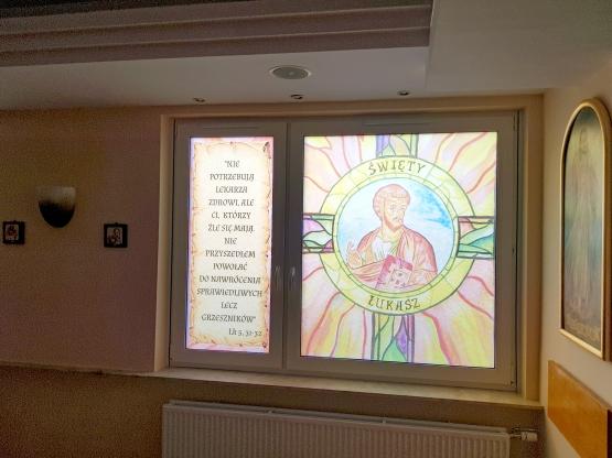 Wykonanie projektów witraży dla kaplicy szpitalnej w Radomiu - styczeń 2020
