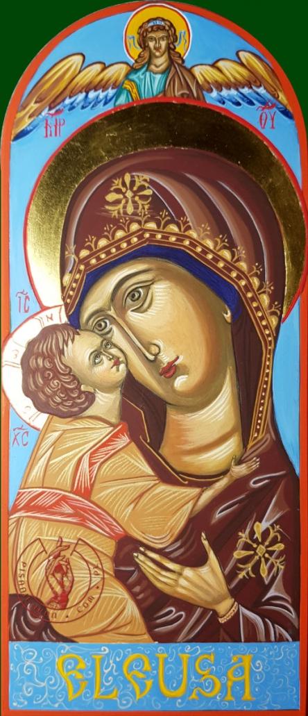 Ikona Matka Boża z Dzieciątkiem Umilenie- Eleusa