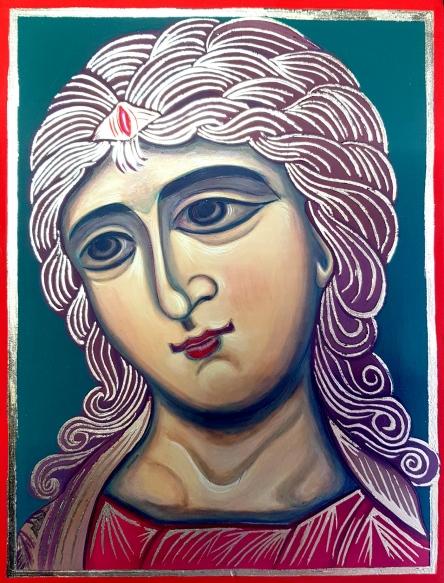 Ikona Anioł o Złotych Włosach