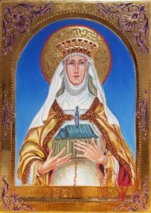 Św. Kinga - wizerunek wg. obrazu Czesława Lenczowskiego